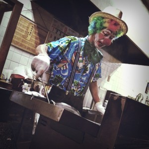 天ぷら屋さんのコスプレ