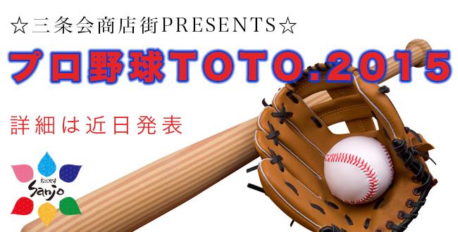 三条会商店街の宝くじイベント|プロ野球TOTO2015